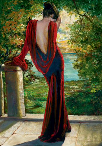 Lady in Red by Barbara Carrera